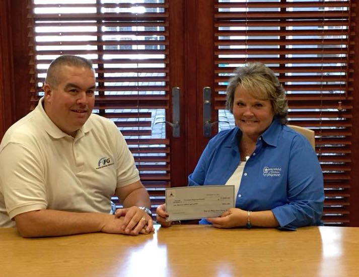 2017 Donation to Camp New Dawn at Compass Regional Hospice